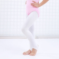 女童白色舞蹈袜 纯棉一体裤踩脚袜打底裤春秋款儿童连裤袜 连脚袜