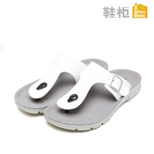 达芙妮旗下SHOEBOX/鞋柜夏季新款夹脚凉拖鞋防滑休闲沙滩鞋男凉鞋