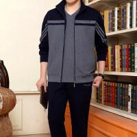 男士运动套装男 长袖休闲卫衣三件套大码宽松跑步运动服