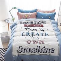 卡通四件套棉棉1.8m床双人1.2米床三件套床上用品棉1.5