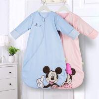 迪士尼宝宝婴儿睡袋防踢被拉链可脱袖睡袋