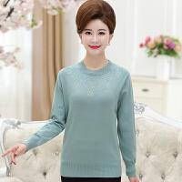 新款秋冬装中老年女装长袖针织打底衫中年妈妈装40-50岁套头毛衣