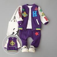 童装宝宝秋冬装0-1-2-3-4岁半男童婴儿两件套开身潮装