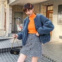 七格格皮毛一体外套女2019新款秋冬季韩版短款羊剪绒仿皮草大衣潮