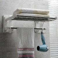 毛巾架吸盘强力挂钩浴巾架浴室置物架卫生间毛巾挂毛巾杆