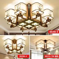 新中式吸顶灯中国风客厅灯餐厅吊灯卧室书房简约现代长方形灯具