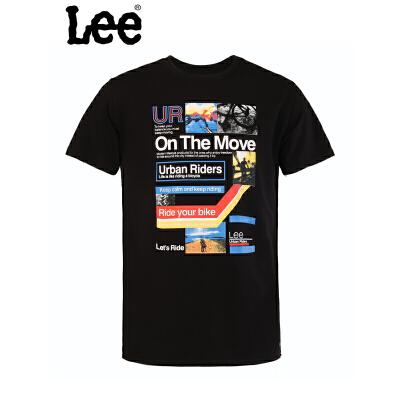 Lee 【断码】夏季男装修身都市骑士短袖圆领T恤L15124J21K11