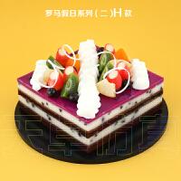古达 17新款生日裸蛋糕模型玫瑰巧克力慕斯水果摄影软装饰