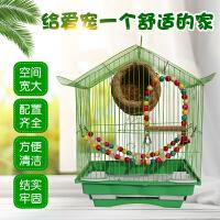 八哥虎皮玄凤鹦鹉鸟笼铁笼铁艺家用画眉鸟笼子小号鸽子笼小型专用