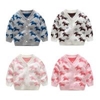 20180506121551176婴儿毛衣服针织纯棉外套0岁3个月1男6女宝宝春秋装秋冬装套头开衫