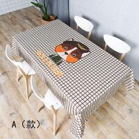 卡通餐桌布艺台布圆桌布加厚长方形茶几布客厅餐厅书桌多用盖巾布