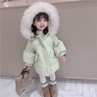 女童羽绒服中长款外套婴儿童装小童女宝宝冬装