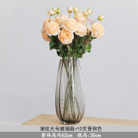 牡丹花假花 仿真牡丹花假花家居客厅装饰干花餐桌摆件玫瑰花束婚庆花瓶插花