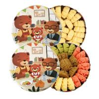 珍妮曲奇 四味彩虹大盒640g+原味曲奇小盒320g 2盒礼盒 好吃的休闲高颜值网红曲奇饼干