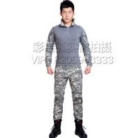 户外运动真人CS战术服青蛙服套装 军迷服饰 ACU迷彩特种兵战术迷彩服 保镖紧身服蛙服套装