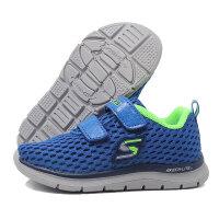 skechers斯凯奇正品童鞋17年新款男婴童网布透气魔术贴运动鞋95056N