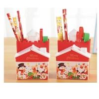 包邮 圣诞节文具套装批发幼儿园奖品儿童生日礼物小学生学习用品礼盒