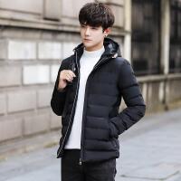 2017冬季新款袄子棉衣男士外套连帽加厚保暖棉服韩版修身短款棉服