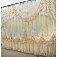 韩式蕾丝窗帘成品欧式帘头造型窗帘套装纱帘客厅卧室婚房窗帘