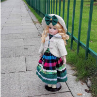 陶瓷仿真洋娃娃欧式工艺品摆件家居卧室装饰礼品创意人物田园风格