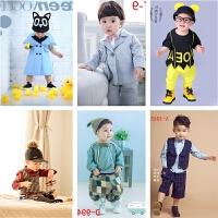 儿童摄影服装新款 时尚影楼拍照相韩版服饰 1-2岁男宝宝衣服