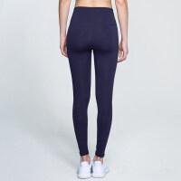 健身裤女弹力紧身裤高腰显瘦瑜伽运动裤速干透气跑步九分裤