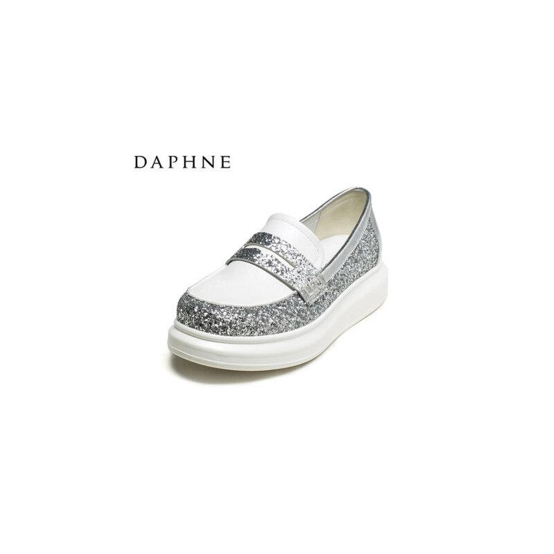 Daphne/达芙妮乐福鞋休格利特女单鞋懒人一脚套乐福鞋1516101108