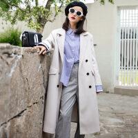 女装秋冬外套时尚毛呢大衣女纯色羊毛大衣女呢子上衣一件