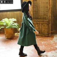 童装女童毛呢外套新款公主韩版儿童秋冬装中大童加厚呢子大衣风衣