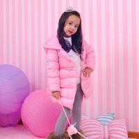芭比童装儿童羽绒服2017冬季新款女童纯色加厚外套
