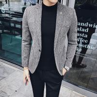 2017秋冬新款男士休闲西服英伦风韩版青年小西装修身青年男外套潮