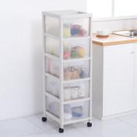 厨房收纳柜抽屉式储物柜夹缝整理柜塑料收纳箱蔬菜置物架零食柜子 1个