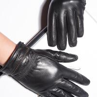 大气时尚男士羊皮手套防风骑车手套加绒加厚保暖真皮手套 可礼品卡支付