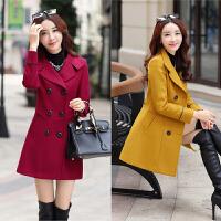 中年女装韩版秋冬季妈妈装妮子外套中长款淑女气质毛呢大衣40岁30