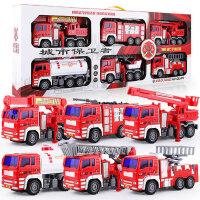 云梯儿童消防玩具车小汽车套装男孩各类救援大号升降员超大可喷水