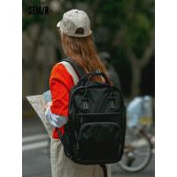 森马双肩包女大容量多功能背包休闲旅行中学生初中生书包韩版高中