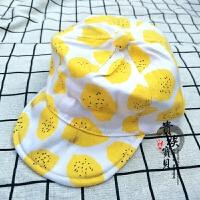 韩国春夏儿童防晒帽柠檬鸭舌帽婴幼儿遮阳帽太阳帽儿童摄影帽子