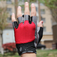 夏季 骑行手套 半指 吸湿排汗 自行车手套 硅胶防滑 运动手套透气