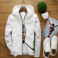 韩版潮男装连帽薄款运动修身反光夹克班服女士外套印 4X