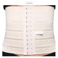 收腹带束腰带收腰塑腰绑带束腹带产后减肚子美体塑身衣腰封女 杏色(两件装)