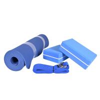 瑜伽套装初学者无味防滑瑜伽垫瑜伽绳瑜伽砖四件套 6mm(初学者)