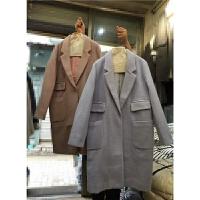 K6新款秋冬韩版呢子大衣女多口袋过膝茧型显瘦加厚毛呢外套1.05