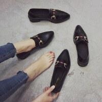 户外英伦风复古小皮鞋女时尚尖头粗跟单鞋ins女鞋子