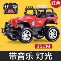 儿童玩具男孩遥控汽车充电遥控车玩具车儿童礼物越野车小 红色(灯光音乐漂移)