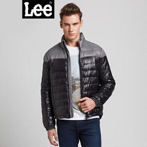 Lee男新款拼色立领羽绒服时尚休闲轻质保暖羽绒服L13522156K11