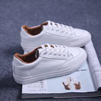 秋季小白鞋韩版白色帆布鞋女学生平底休闲鞋百搭板鞋系带运动鞋