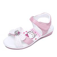 hellokitty女童凉鞋儿童皮凉鞋公主凉鞋学生鞋夏季新款小童女