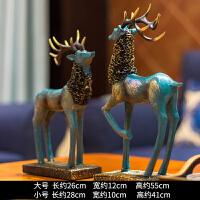 鹿摆件北欧式家居家装饰品客厅新婚结婚礼物酒柜创意电视柜抖音