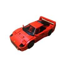 大众T1露营车mini甲壳虫汽车模型男孩拼装积木玩具 乐拼21004法拉利 (1158颗粒现货)