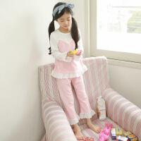 儿童睡衣女童春季长袖纯棉中大童春秋款公主小女孩韩版家居服套装